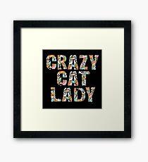 Crazy Cat Lady Framed Print