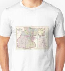 Vintage Map of Newark NJ (1872) Unisex T-Shirt