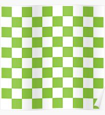Green Checkerboard Poster