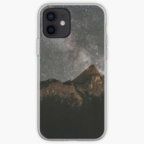 Milky Way Over Mountains- Landscape Photography iPhone Soft Case