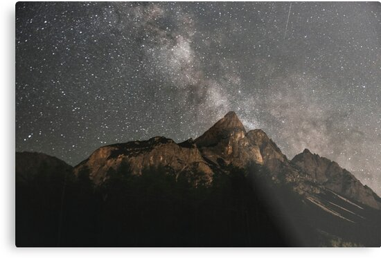 Milky Way Over Mountains- Landscape Photography by Michael Schauer