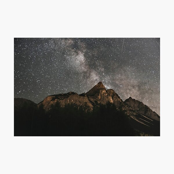 Milky Way Over Mountains- Landscape Photography Photographic Print
