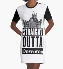 Straight Outta Downton Graphic T-Shirt Dress