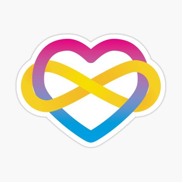 Pansexual Polyamorous Pride Infinity Heart Sticker