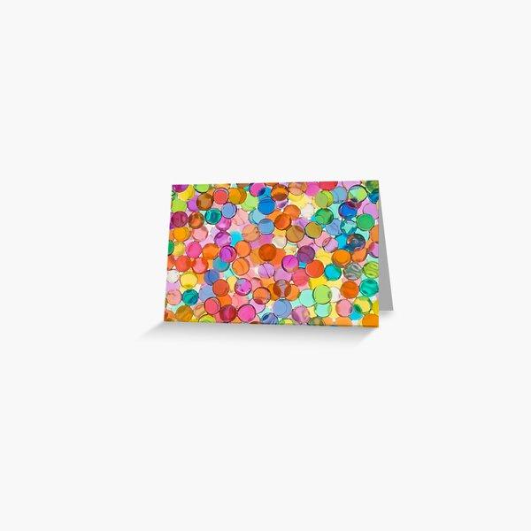 Glass Bead Pattern Greeting Card