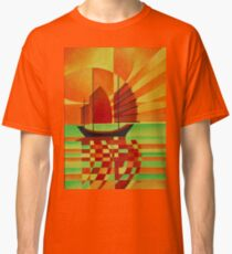 Junk on Sea of Green Cubist Abstract Classic T-Shirt