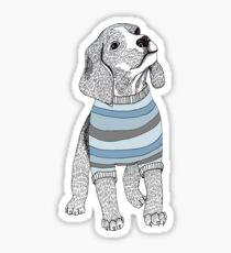 Blue Beagles Sticker