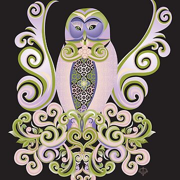 Owl Love Nest by jillsandersart