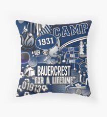 Camp Bauercrest Throw Pillow