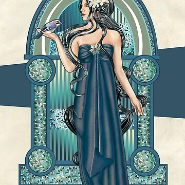 Winter - Art Nouveau by jillsandersart