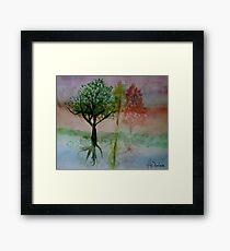 Water Trees Framed Print