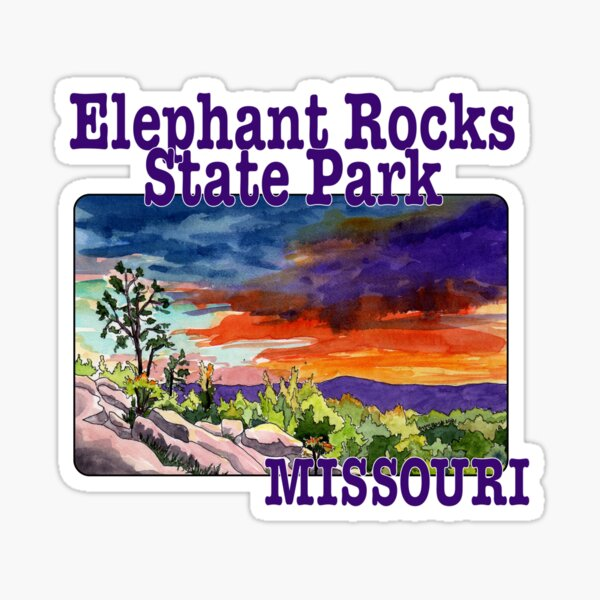 Elephant Rocks State Park, Missouri Sticker