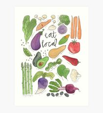 Eat More Veggies Art Print