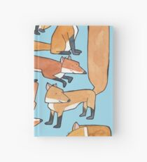 Foxes Collage Hardcover Journal
