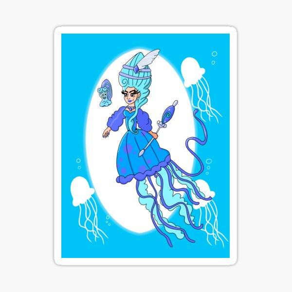 Jellyfish Mermaid Queen  Sticker