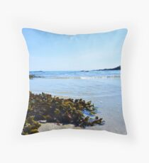 Isle of Tiree Scotland Beach View Throw Pillow
