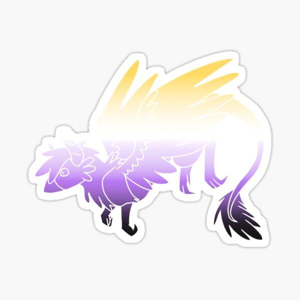 Non-binary Pride Dragon Sticker