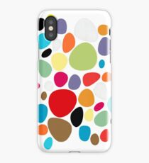 Circles patterns coloured  iPhone Case/Skin