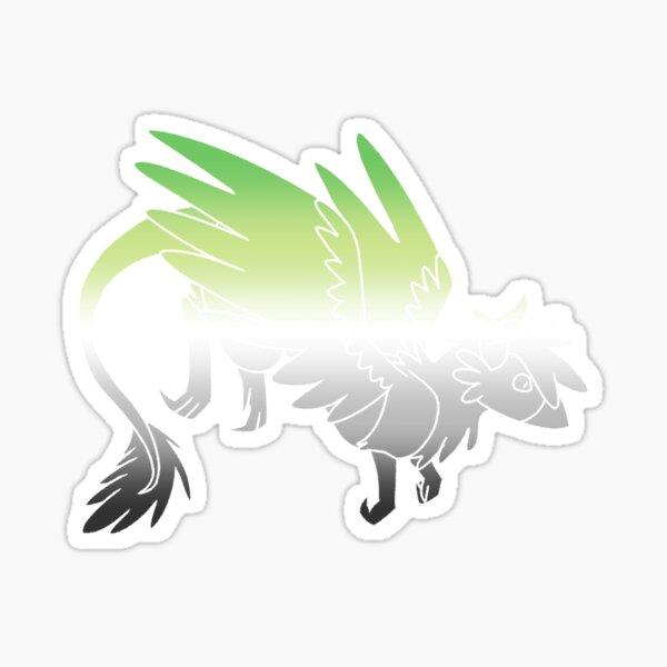 Aromantic Pride Dragon Sticker