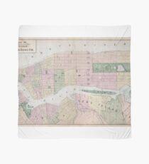 Pañuelo Mapa vintage de la ciudad de Nueva York (1873)