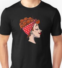 Rockabilly Redhead - 50s Pinup Cameo Unisex T-Shirt