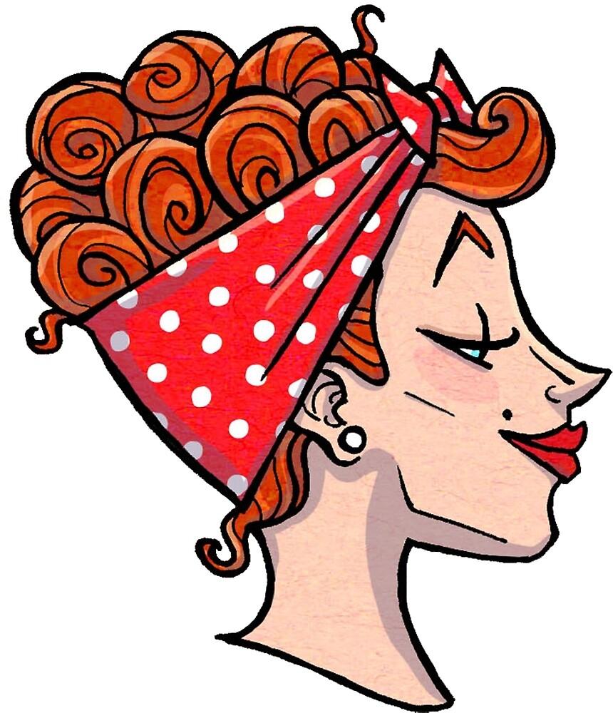 Rockabilly Redhead - 50s Pinup Cameo by hannahradenkova