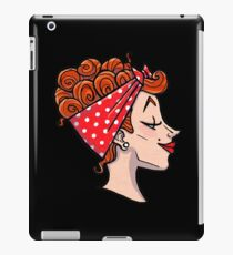 Rockabilly Redhead - 50s Pinup Cameo iPad Case/Skin