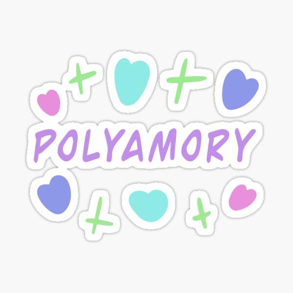 Polyamory - lettering. Polyamorous relationships. Polyamory. Polyamorous  Sticker