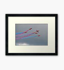 Hawk T1A  Red Arrows  Framed Print
