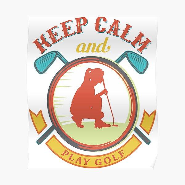 golf, golf woman, golf love, love golf, fun golf woman, funny golf woman, fun putt, funny putt Poster