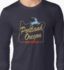 Portland Oregon - Made in Oregon Sign Long Sleeve T-Shirt