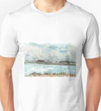 A view of San Francisco from the Richmond Shoreline Unisex T-Shirt