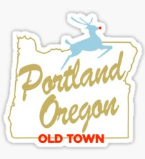 Portland Oregon - Made in Oregon Sign Sticker