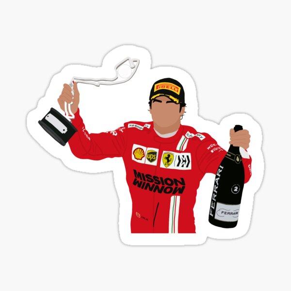 Carlos Sainz célèbre sa deuxième place sur le podium du Grand Prix de Monaco 2021 Sticker