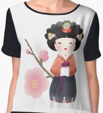 Korean Doll Women's Chiffon Top