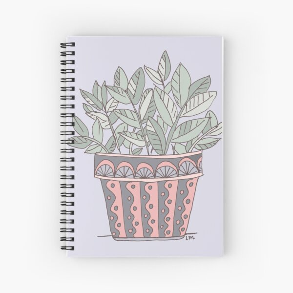 Potted Plant Spiral Notebook