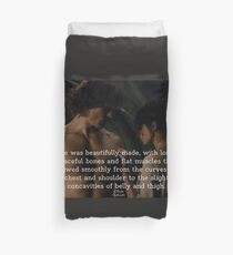 Outlander Wedding night Quote/Jamie & Claire Fraser Duvet Cover