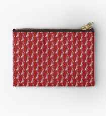 Red Pearl Zipper Pouch