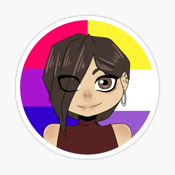 Pride chibi - Sam Sticker