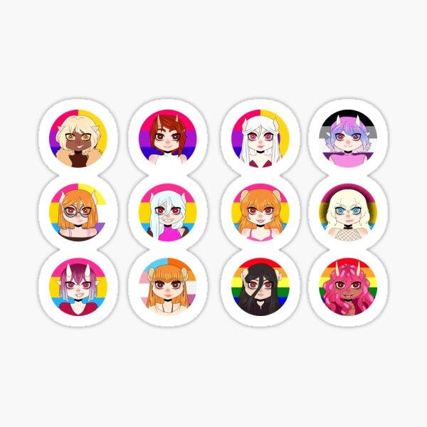 Pride chibi - Horny Hell set Sticker