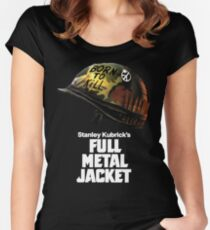Stanley Kubrick's Full Metal Jacket | Black Women's Fitted Scoop T-Shirt