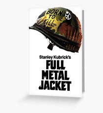 Stanley Kubrick's Full Metal Jacket Greeting Card