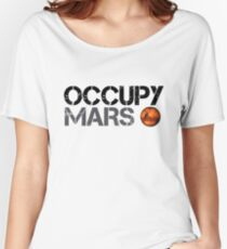 Occupy Mars - Weltraumplanet - SpaceX Loose Fit T-Shirt