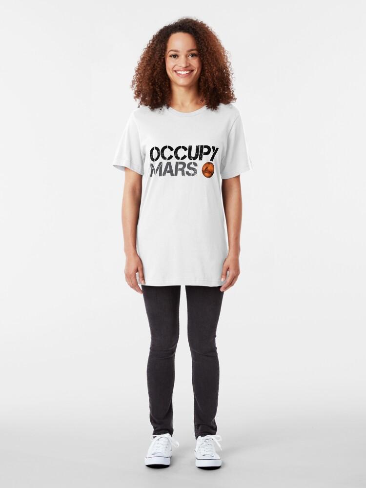 Alternative Ansicht von Occupy Mars - Weltraumplanet - SpaceX Slim Fit T-Shirt