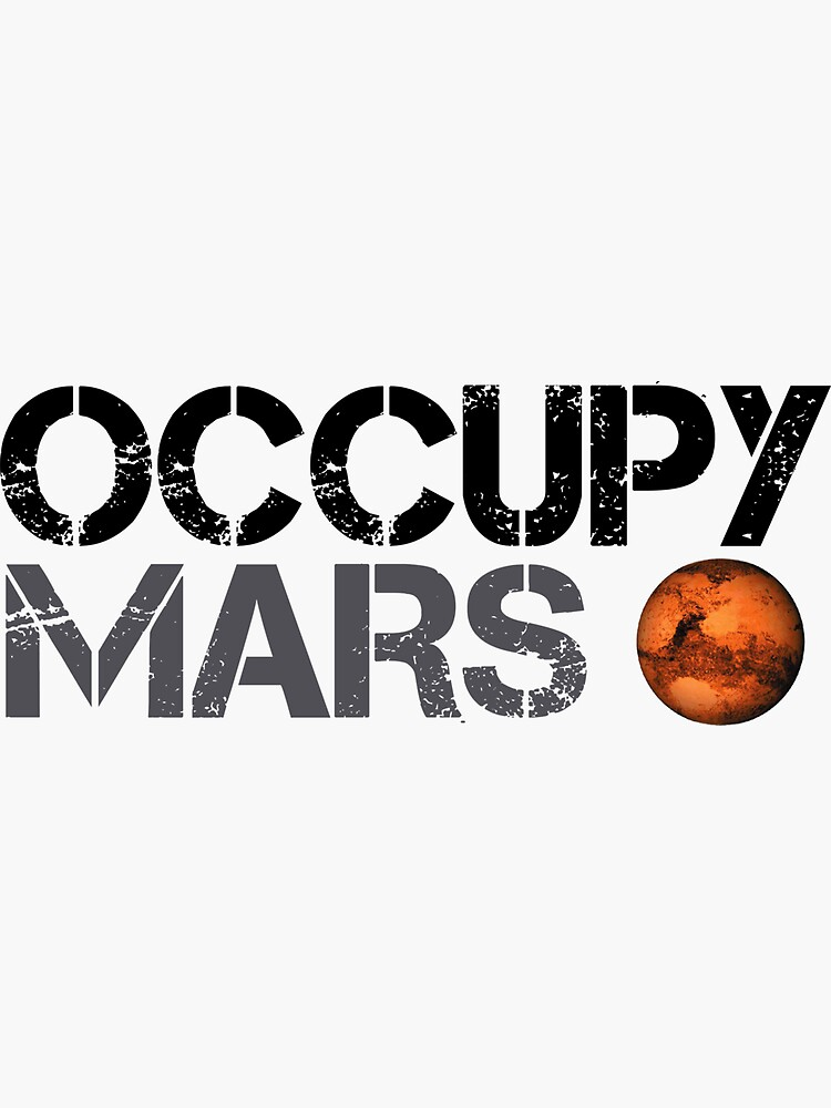 Occupy Mars - Space Planet - SpaceX by teedesiigner