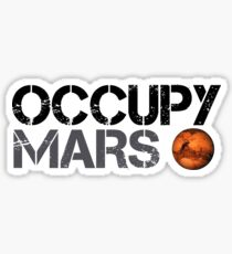 Occupy Mars - Space Planet - SpaceX Sticker