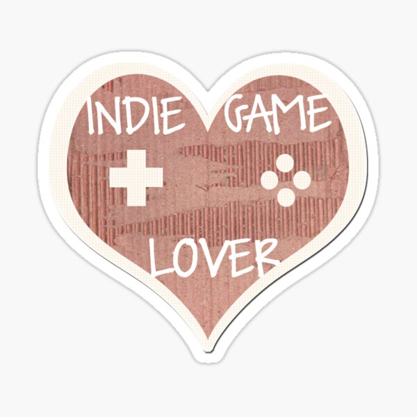 Indie Game Lover Coeur Sticker