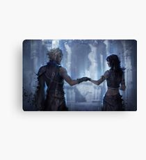 Cloud Strife and Tifa Lockhart Canvas Print