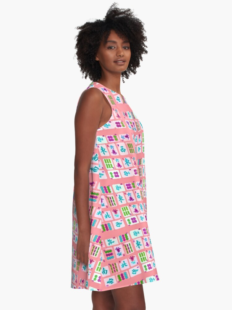 Alternate view of Pink Tiles A-Line Dress