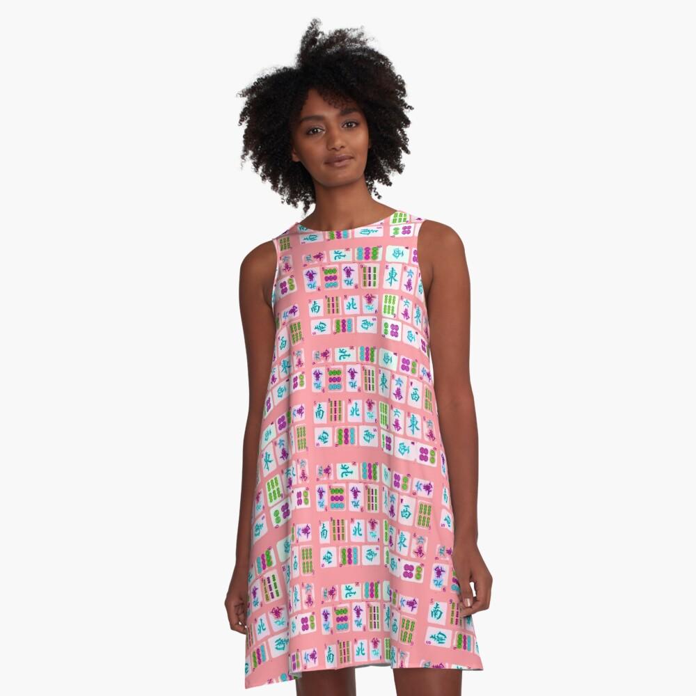 Pink Tiles A-Line Dress